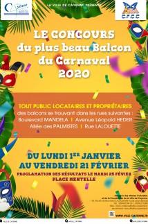 Le concours du plus beau balcon du Carnaval 2020
