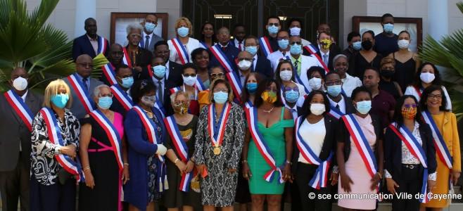 Installation du nouveau conseil municipal de la ville de Cayenne