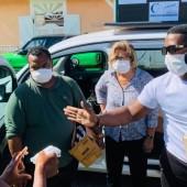 Campagne de distribution de masques dans les quartiers de la ville de Cayenne