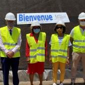 Visite de chantier de l'opération d'aménagement du quartier Palika