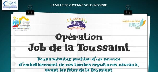 Opération job de la Toussaint