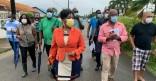 Retour en images sur le déplacement de l'équipe municipal de Cayenne à la cité Césaire le 23 février