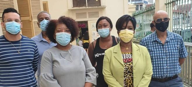 Rentrée scolaire : Le Maire de Cayenne en déplacement à l'école Jospéhine-Horth