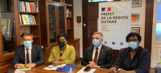 Retour en images sur la vidéoconférence avec le ministre des Outre-Mer et le ministre des comptes publics
