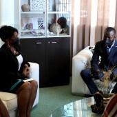 Coopération : La Maire de Cayenne rencontre le Député LÉNAÏCK ADAM